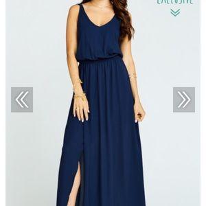 Show Me Your Mumu Kendall bridesmaid dress- navy